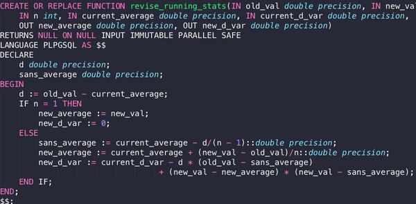 Updating Averages and Variances Incrementally